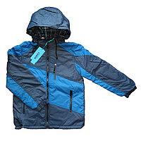 Куртка голубая двухсторонняя демисезонная (9-10 лет)