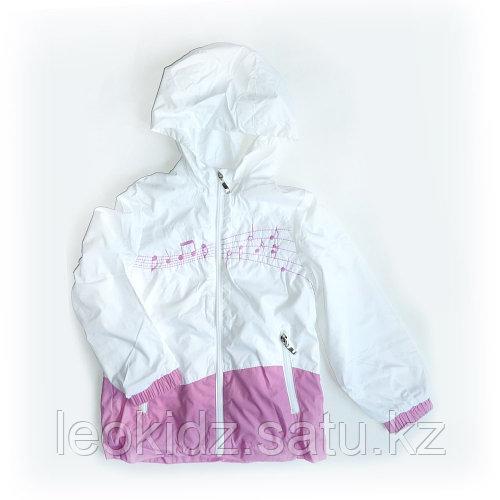 Ветровка Нотки бело-розовая (116 см)
