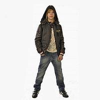 Куртка демисезонная Бадди коричневая (158 см)