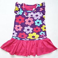 Платье трикотажное Joe в цветы с розовой юбкой (5-6 лет)