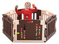 Ограждение-манеж для детей EDU PLAY 6 PLAY ROOM, арт. PR-3618M, цвет бежевые тона