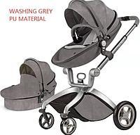 Детская коляска 2в1 Hot Mom F22 Алькантара Grey