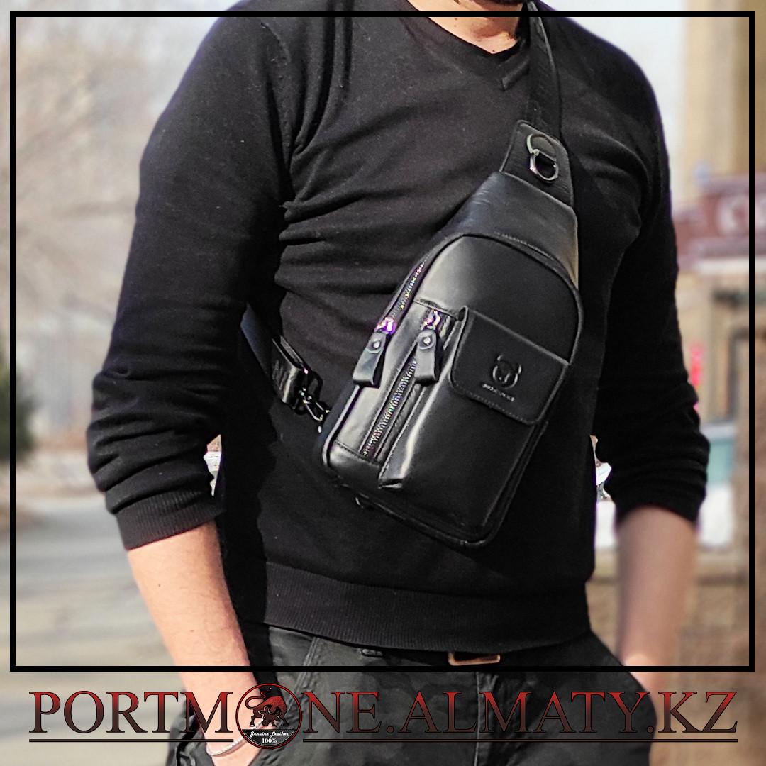 Мужской рюкзак-слинг BULLCAPTAIN в Алматы, 100 % кожа