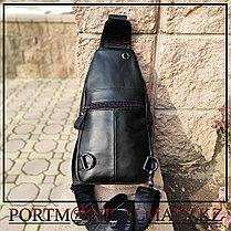 Мужской рюкзак-слинг BULLCAPTAIN в Алматы, 100 % кожа, фото 3