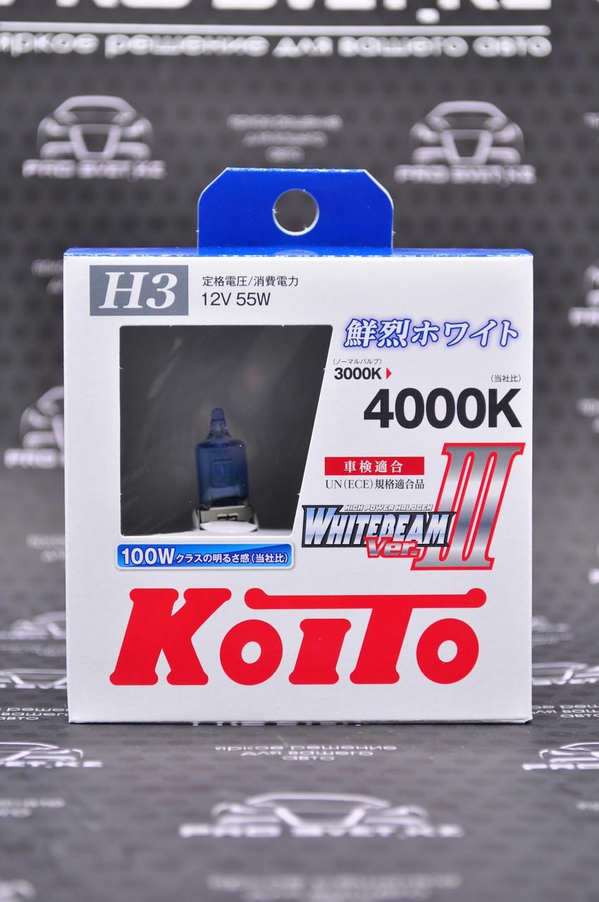 Галогеновые лампы H3 Koito WhiteBeam III 4000K