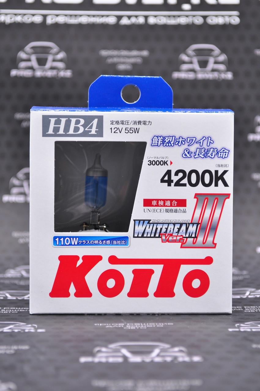 Галогенные лампы Koito Whitebeam III HB4 P0757W 4200K 12V 55W (110W)