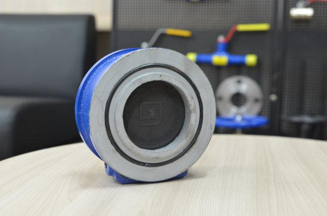 Клапан обратный одностворчатый чугунный межфл. Ду 100 Ру 16 (Россия) канализация, фото 2