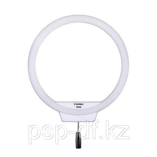 Кольцевой светодиодный осветитель Yongnuo YN-308 LED 3200-5500K в комплекте (2 аккум. Jupio np-f 750 и