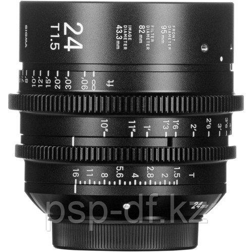Объектив Sigma 24mm T1.5 FF High-Speed Prime (EF, Meters)