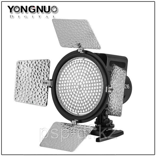 Светодиодная панель на камеру YN-216 в комплекте (аккум. Jupio np-f 750 и зарядник)