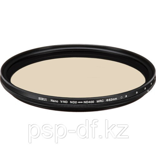 Фильтр Sirui 82mm Variable Neutral Density 0.3 to 2.4 Filter (1 to 8-Stop)