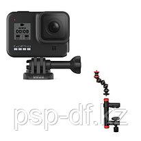 Экшн камера GoPro HERO8 Black + Держатель струбцина JOBY Action Clamp & GorillaPod Arm