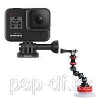Экшн камера GoPro HERO8 Black + Держатель на присоске Joby Suction Cup & GorillaPod Arm