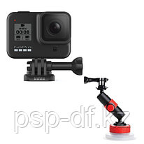 Экшн камера GoPro HERO8 Black + Держатель на присоске Joby Suction Cup & Locking Arm