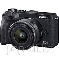 Фотоаппарат Canon EOS M6 Mark II kit EF-M 15-45mm + видоискатель EVF-DC2