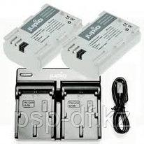Jupio Kit: 2x Battery LP-E6N Ultra 2040mAh + USB Dual Charger
