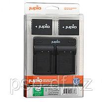 Jupio Kit: 2x Battery NP-W126 + USB Duo Charger для Fujifilm