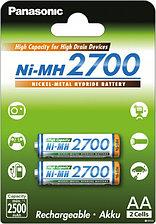 Аккумуляторы АА Panasonic NiMH 2700 mA 2шт