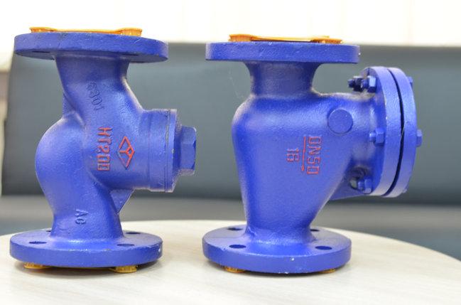 Клапан обратный поворотный чугунный фланц. (вертикальный) Ду 50 Ру 16, вода, канализация, фото 2