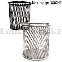 Настольная подставка для канцелярских товаров сетчатая металлическая в ассортименте