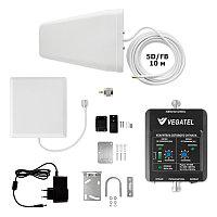 VEGATEL VT-1800-kit (дом, LED) - Комплект, 60 дБ/20 мВт, корпус со шкалой, ant-8Y + Pi ант., 5D-FB 10м