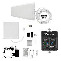 VEGATEL VT-900E-kit (дом, LED) - Комплект, 60 дБ/20 мВт, корпус со шкалой, ant-8Y + Pi ант., 5D-FB 10м
