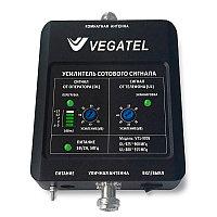 VEGATEL VT1-900E (LED) - Репитер, 65 дБ/50 мВт, новый черный корпус со шкалой