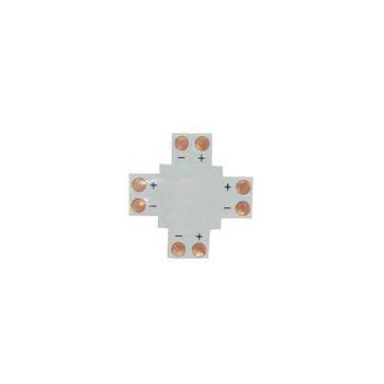 Соединитель для светодиодной ленты 12V 8mm не влагозащищенный (Х-образный под пайку) HXD-F2P-10十Соед