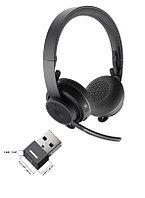 Logitech Headset Wireless Zone UC Graphite [981-000914] - Беспроводная Bluetooth-гарнитура с донглом