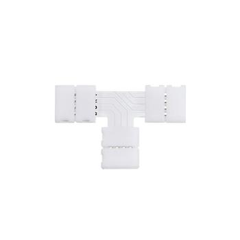 Коннектор Т- образный жесткий с фиксатором RGB IP20