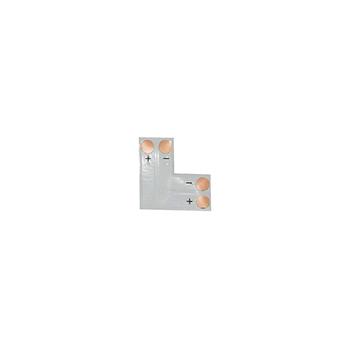 Коннектор L- образный мягкий под пайку 8мм IP20