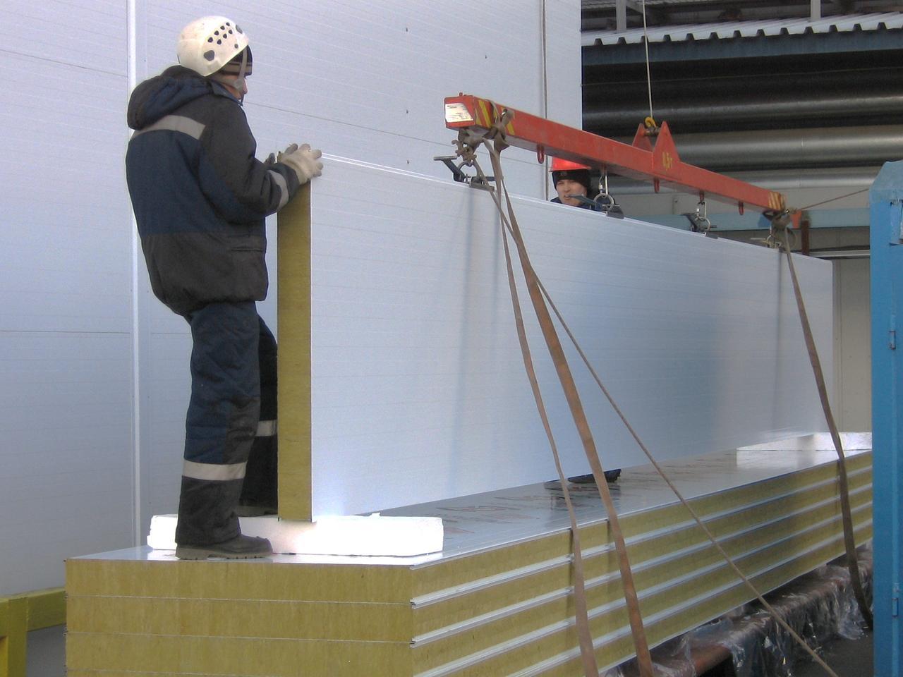 Монтаж сэндвич панелей к бетону