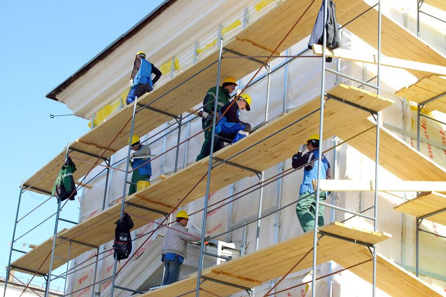 Выполнение фасадных работ