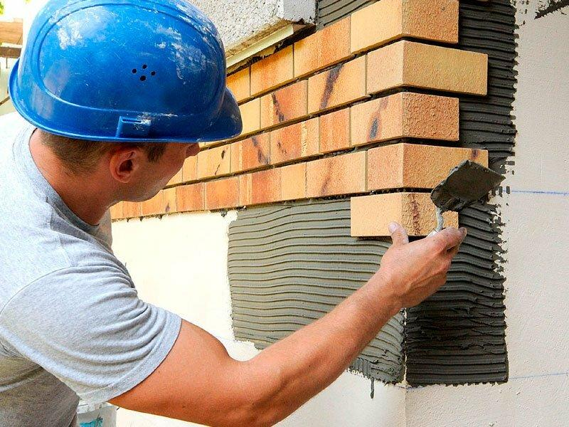 Фасадные работы плиткой