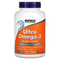 Now Foods, ультра омега-3, Ultra Omega-3, 180 капсул