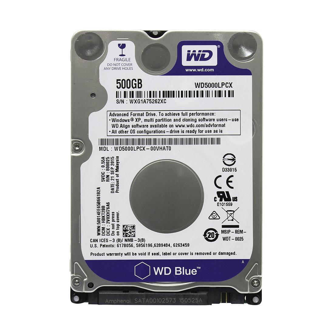 "Жесткий диск для ноутбука  500Gb WD Blue SATA 6Gb/s 2.5"" 5400rpm 16Mb"