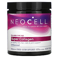 Neocell, Супер коллаген, тип 1 и 3, порошок (198 г)