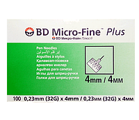 Иглы Микро Файн 4 мм 32G № 100