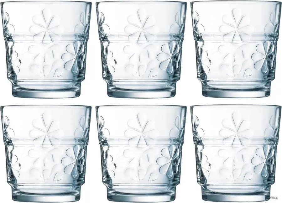 Набор стаканов Luminarc Funny flowers низкие (6 штук)