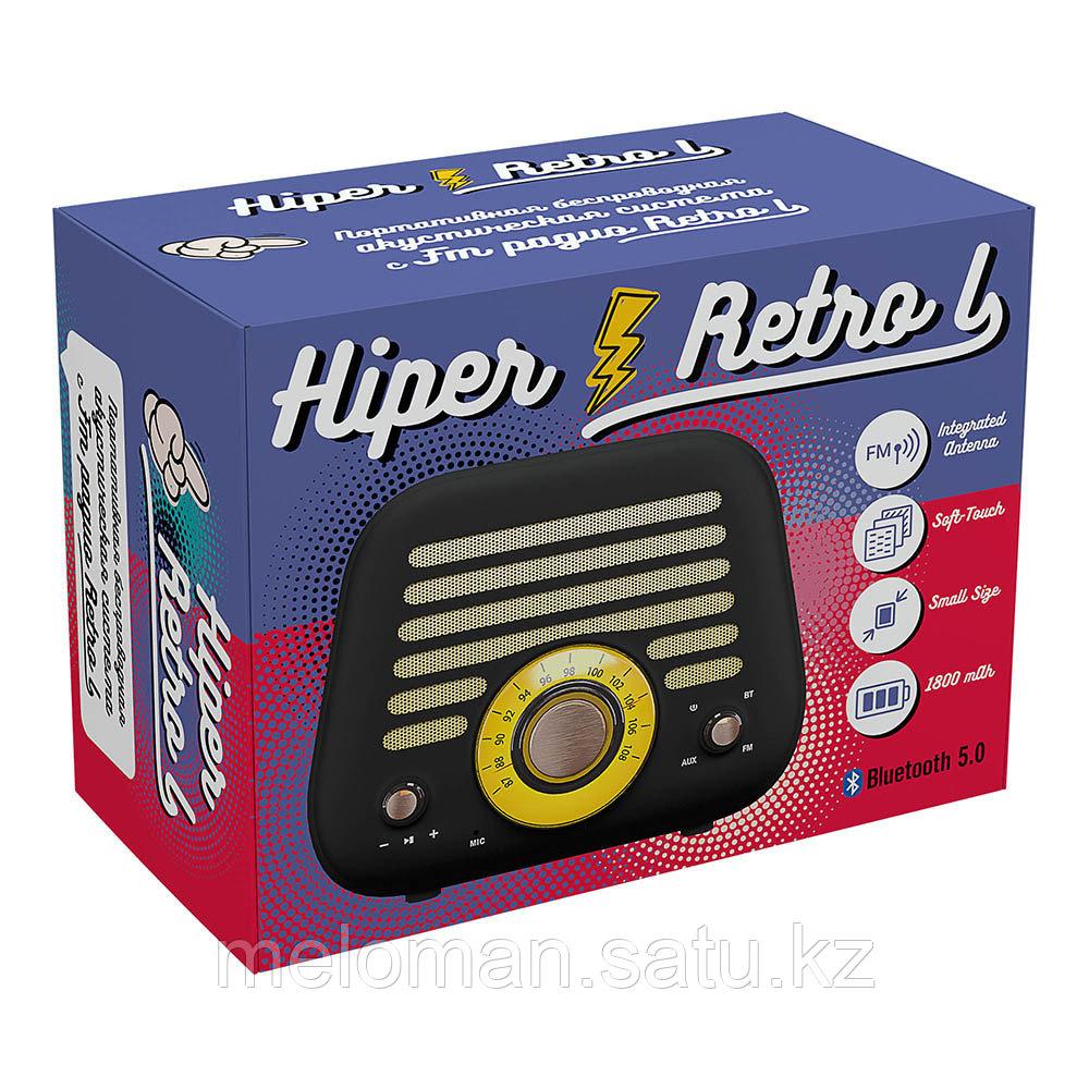 Портативная акустика HIPER RETRO L H-OT5 Black - фото 6