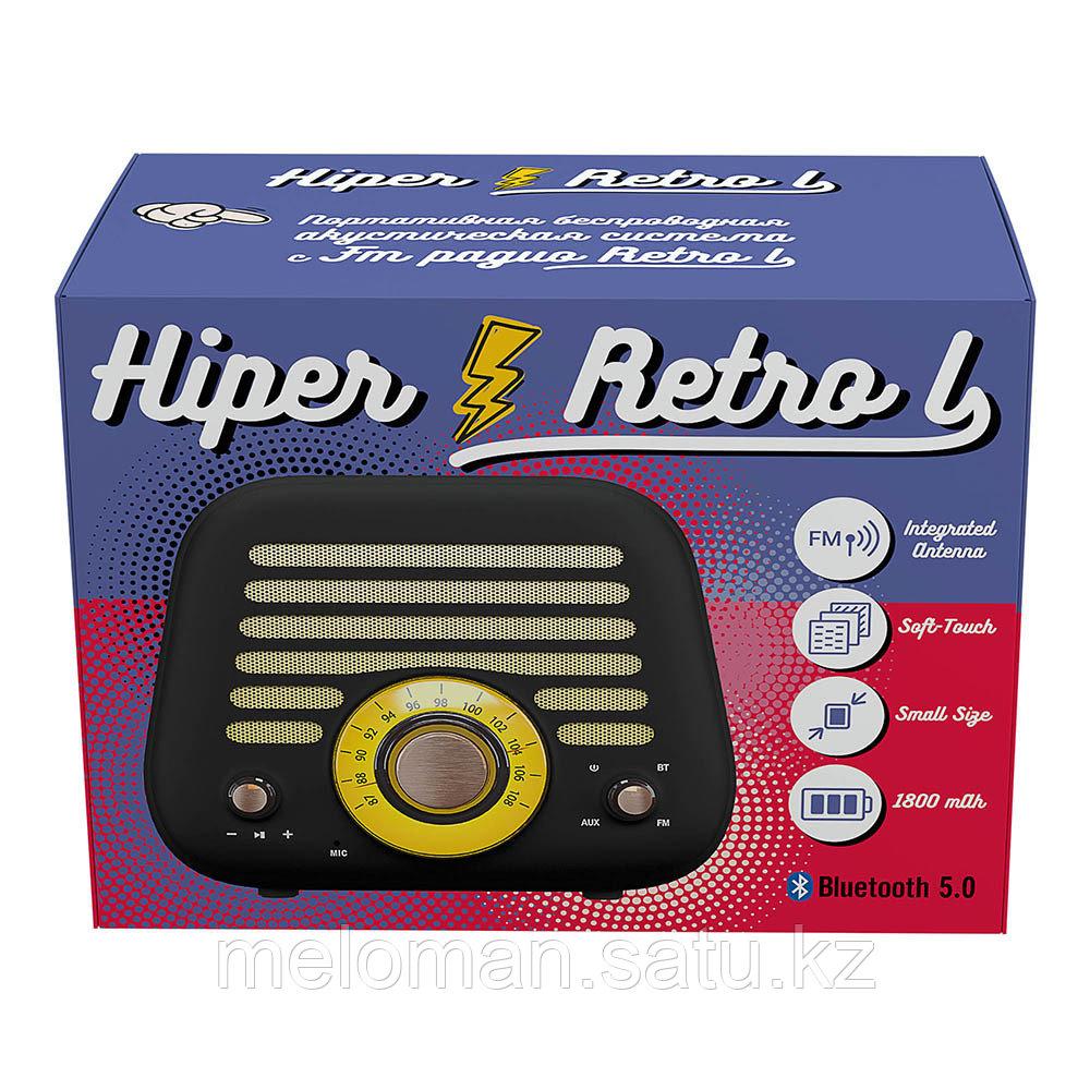 Портативная акустика HIPER RETRO L H-OT5 Black - фото 7