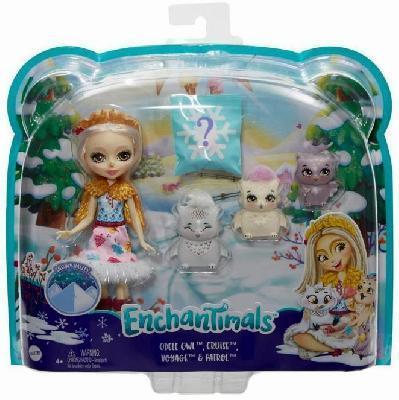 Enchantimals Кукла с 3+ зверушками Зимняя серия