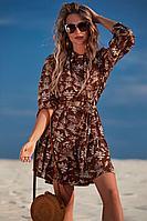 Женское летнее коричневое платье Golden Valley 4706 коричневый 44р.