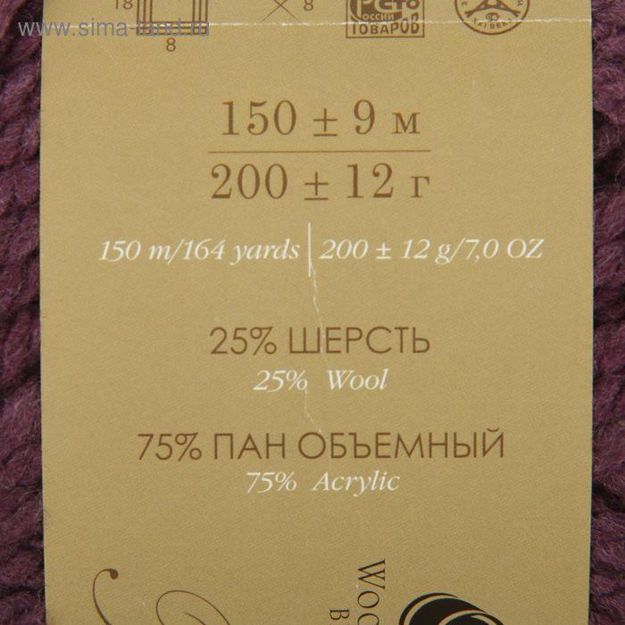 """Пряжа """"Осенняя"""" 25% шерсть, 75% ПАН 150м/200гр (191-Ежевика) - фото 3"""