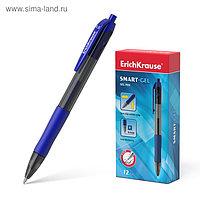 Ручка гелевая автоматическая Erich Krause SMART-GEL, узел 0.5 мм, чернила синие, длина линии письма 500 метров