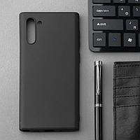 Чехол Innovation, для Samsung Note 10, силиконовый, матовый, черный