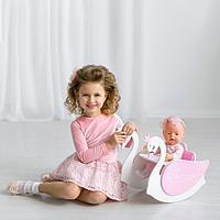Стул для кукол «Изящный лебедь» 2в1 (стул для кормления с качалкой), коллекции «Shining Crown»