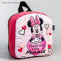 Рюкзак детский, с мигающим элементом, отдел на молнии, «Минни», Disney