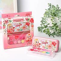 Подарочный набор детских теней и блесков для губ «Мисс Мира»