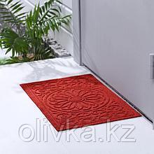 Коврик придверный без окантовки «Большой цветок», 38×58 см, цвет МИКС